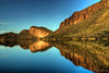 """Canyon Lake""<br /> <br /> A freezing morning, in one of the most beautiful lakes in Arizona."