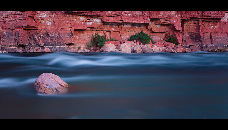 """Rapid Motion""<br /> <br /> The fierce rapids of the Colorado river captured in a calm way."
