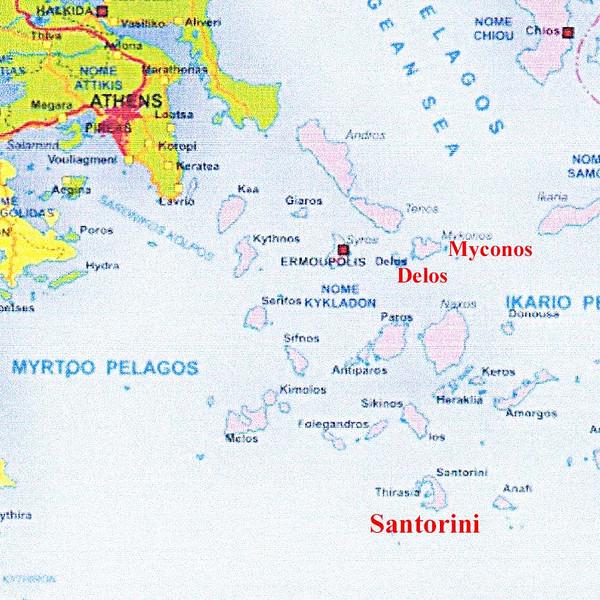 Map of Greece / Islands