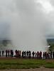 Geysir erupting, SW