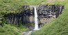 Svartifoss Waterfall with Basalt Lava