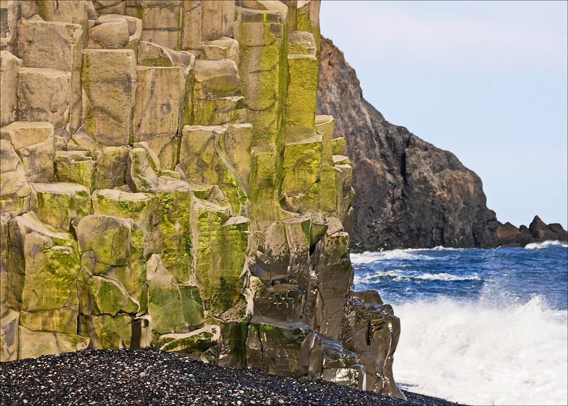 Moss covered Basalt Lava