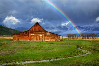 Rainbow Over Moulton Barn