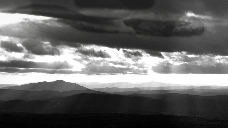 Storm and Sunshine Over Ascutney (954m)