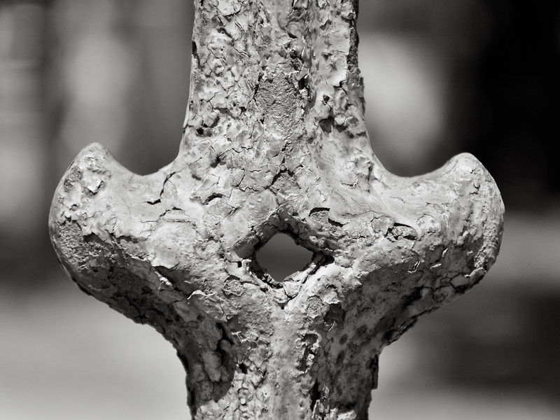 Wrought Iron Fence Post