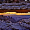 Morning glow at Mesa Arch