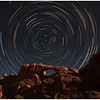Star Trail over Broken Arch, Arches National Park. This photos is composed of 30 exposures of 4 minutes each. (Total 2 hours).