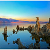 South Tufa captured at sunrise on a calm weather facing toward the North.