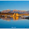 South Tufa. Located in the Southern side of the lake. Captured at sunrise on a calm weather. Panoramic View.