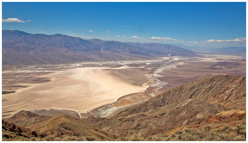 Badwater as viewed from Dante's View