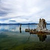 Water level of Mono Lake appeared to have risen as a result from recent wet weather.
