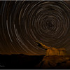 Star Trail over King of Wings, Badlands New Mexico