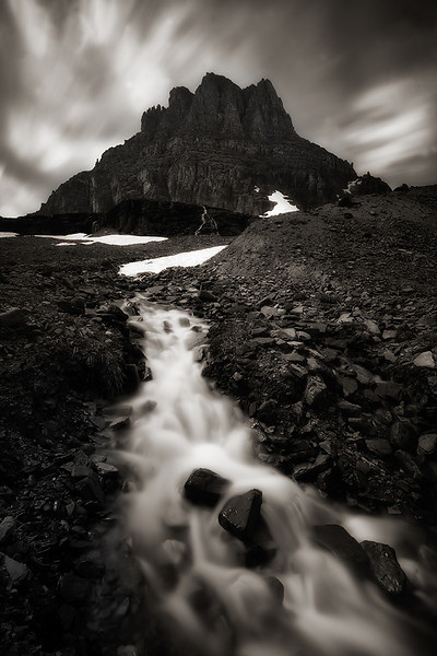 """Flow in time""<br /> <br /> A 20sec exposure during midday to capture the glacier runoff and the fast moving clouds."