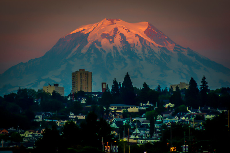 Majestic Mount  Rainier From Tacoma,WA