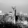 Seattle Skyline In Effect