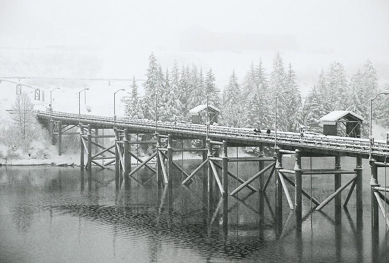 Winter morning in Valdez Pier,Alaska