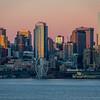 Seattle In Morning Winter Lights