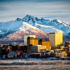 Anchorage In Winter,Alaska
