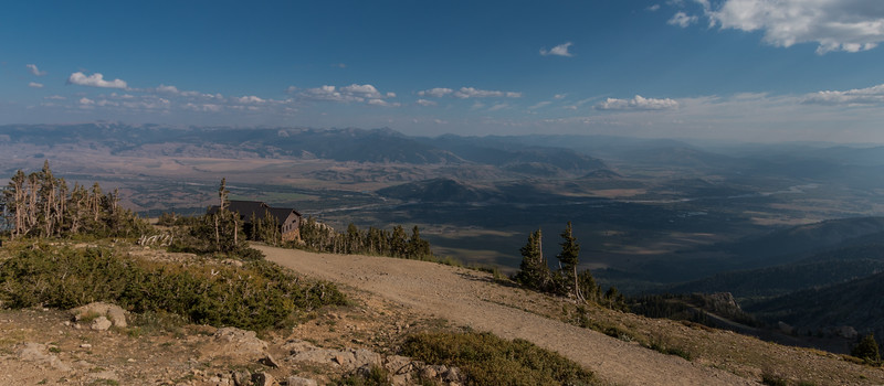 Summit View of Jackson Hole Valley  and The Teton.