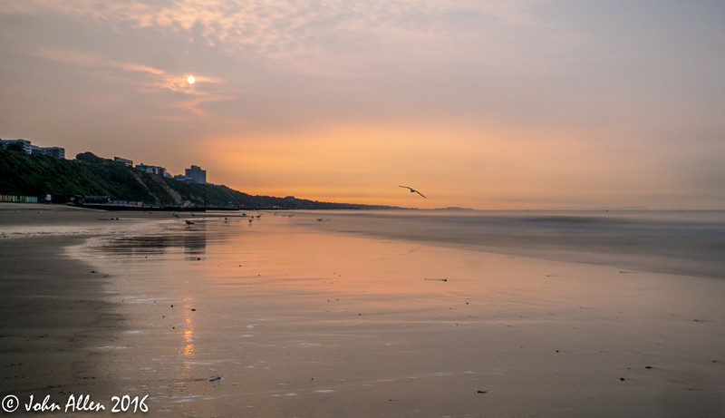 Dawn on Bournemouth Beach
