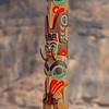 Haida Totem Pole in Jasper, AB