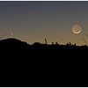 The Comet Pan-STARRS (C/2011 L4) and the moon quickly gone down the horizon. Photographed 3/12/2013.