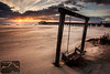 Tybee Pier Swing Sunrise