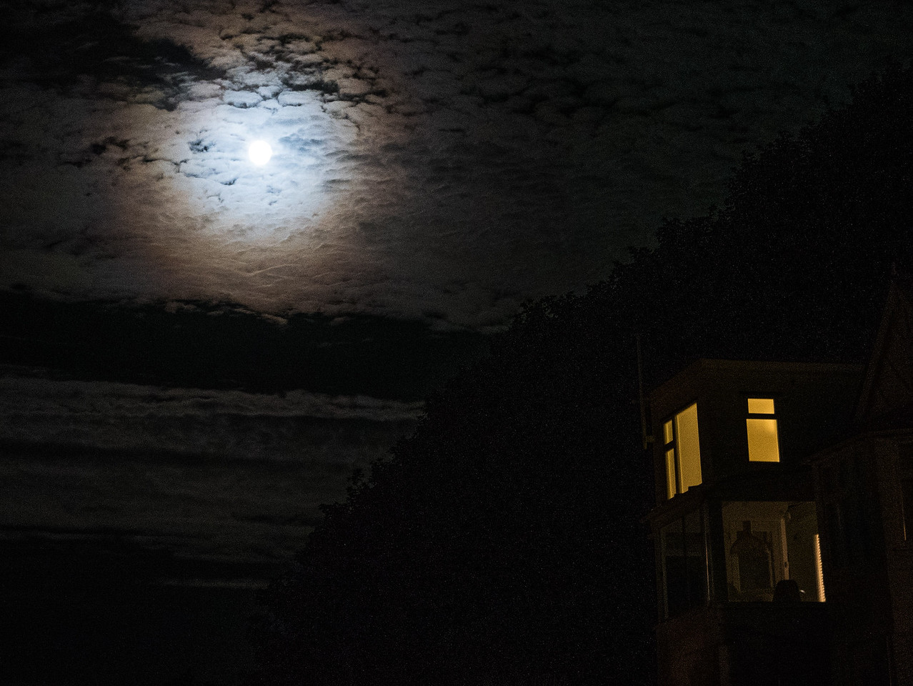 Moon over St Ives