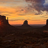 Sunrise in Monument Valley