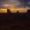 The three buttes in Monument Valley