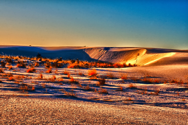 Sunrise at White Sands New Mexico