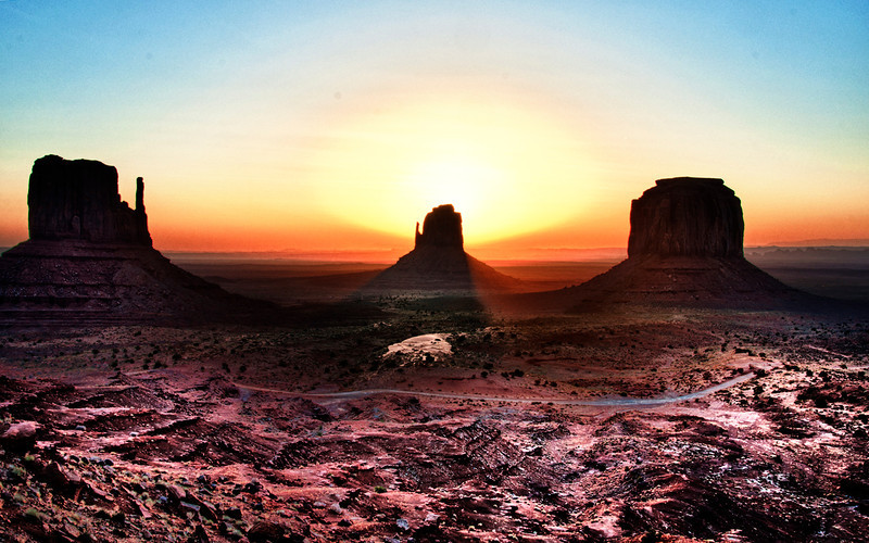 Sun Rise at Monument Valley