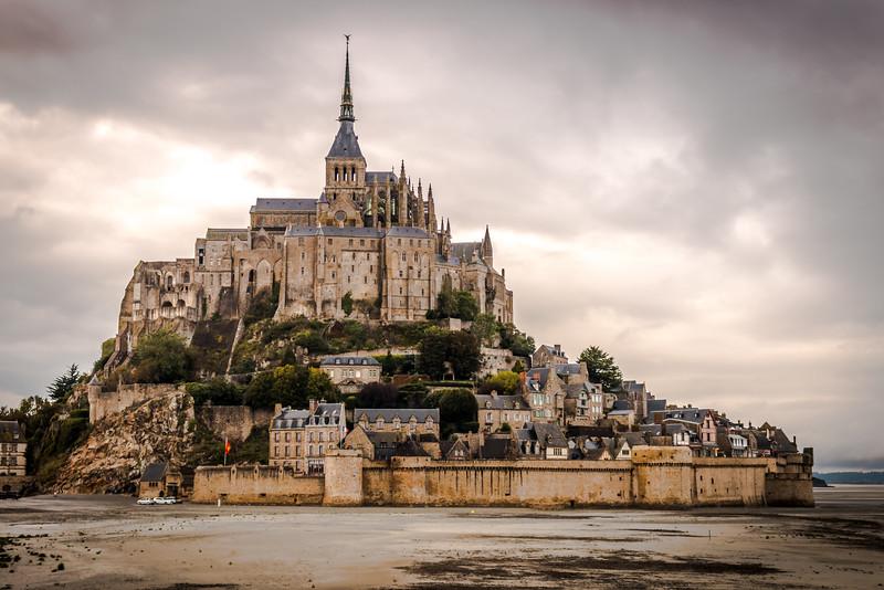 Cloudy Day at Mont Saint-Michel (Saint-Micheal)