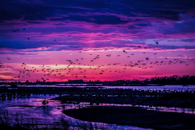 Sunset in Kearney, Nebraska