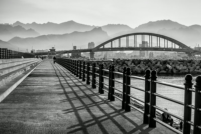 Bridge and Mountains