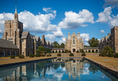 Berry College Ford Hall With The Reflection Pool And Dormitory