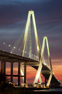 Ravenel Bridge at Sunset