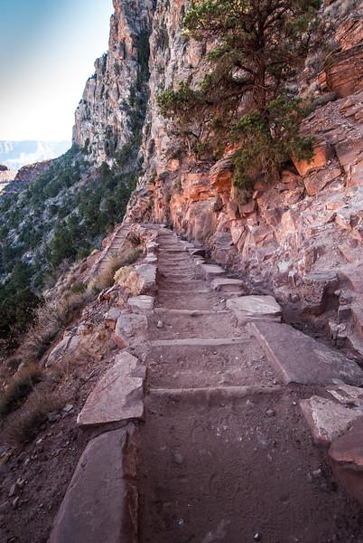 Steps Down South Kaibab Trail