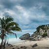 Beachside Storm at Tulum Mexico