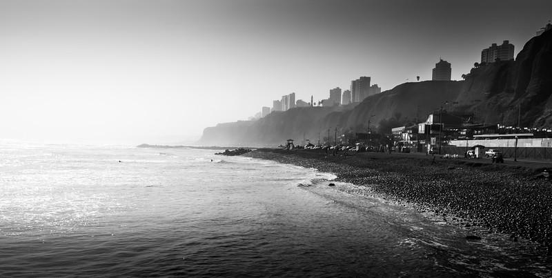 Cobble stone beach, Lima, Peru