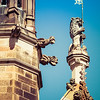 Gothic detail - sandstone features of the Quadrangle at the University of Sydney
