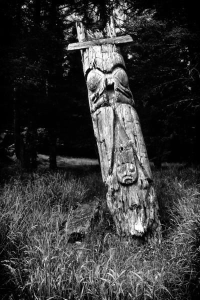 Ancient Haida Totems