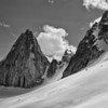 Snowpatch and Pigeon Spires and the Cresent Glacier, Bugaboos