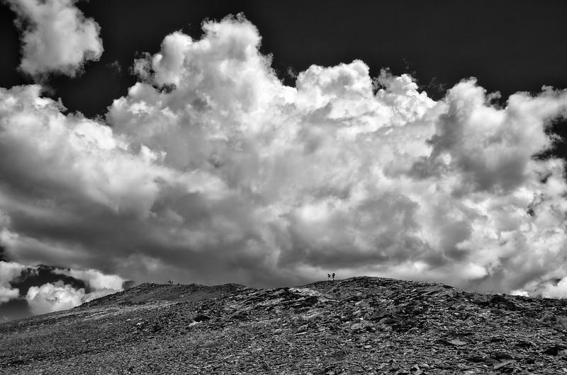 Hikers on Chalice Ridge