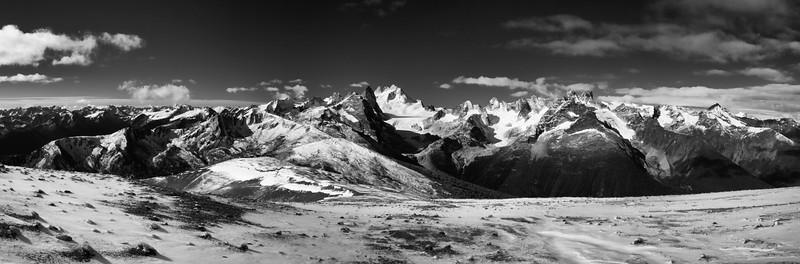 Bugaboos Panorama From Powder Pig Peak