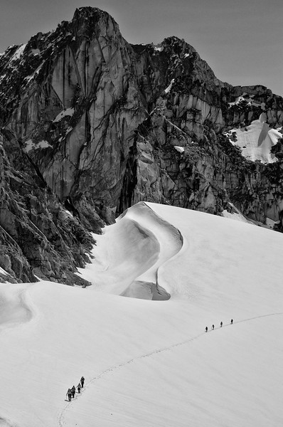 Travellers on the Malloy Glacier, Bugaboos