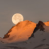 Sunrise and Moonset at the same time over the Bugaboo Glacier