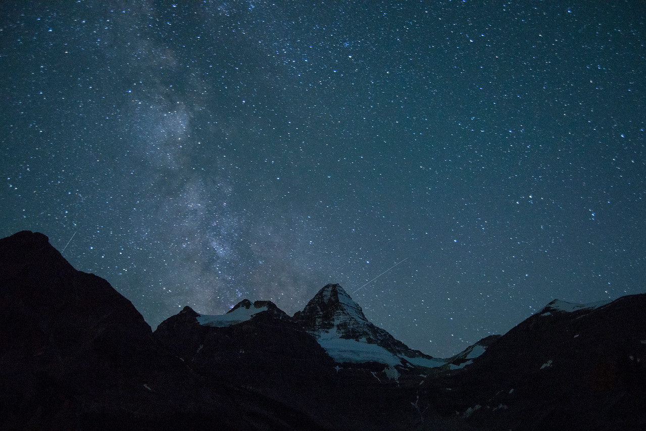The Milky Way above Mount Assiniboine