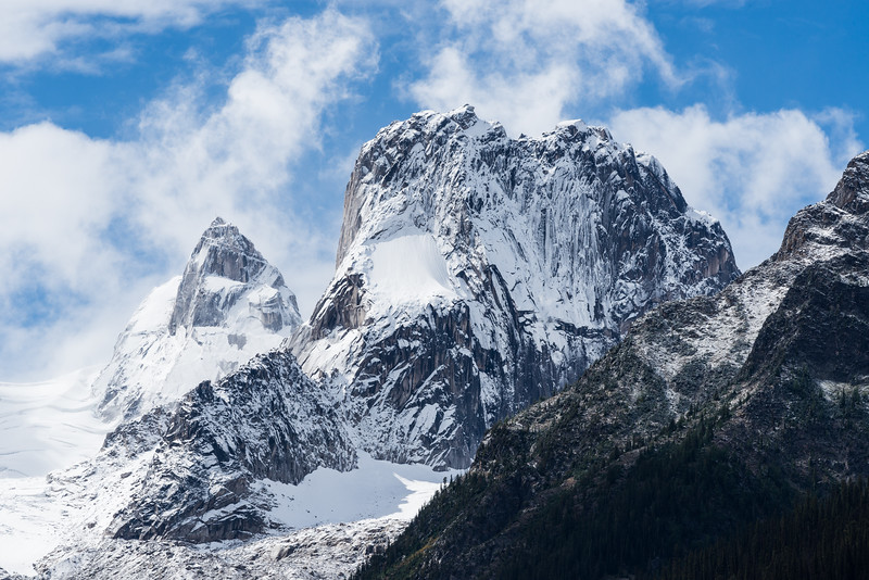 Pigeon and Snowpatch Spires Plastered with Snow on September 2nd