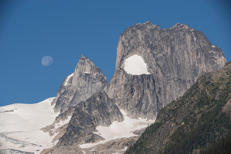 Moonset over the Bugaboos
